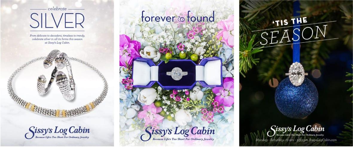 Sissy's Log Cabin Ads