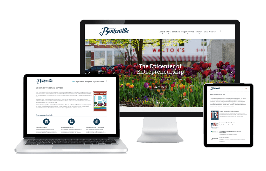 Invest Bentonville Website
