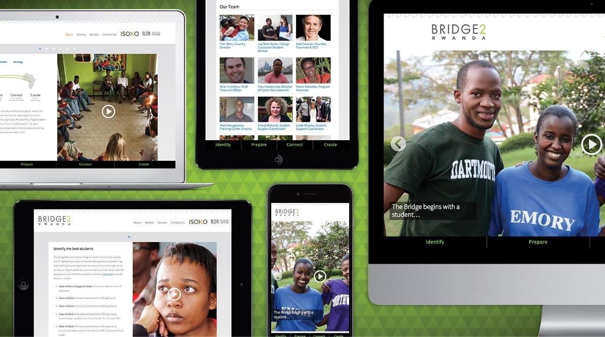 Bridge2Rwanda website
