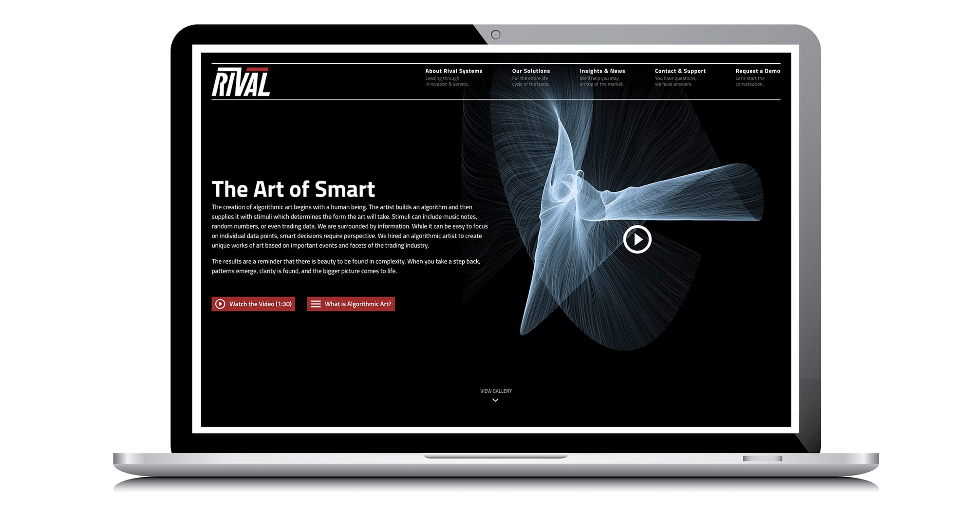 Rival Art of Smart landing page