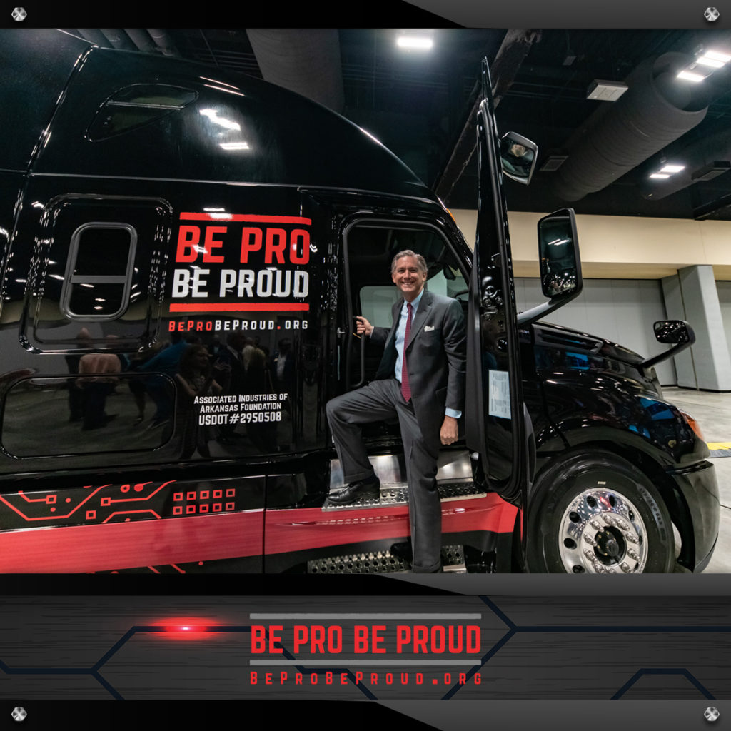 Be pro be proud experiential marketing truck truck reveal