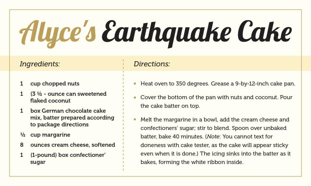 Earthquake recipe